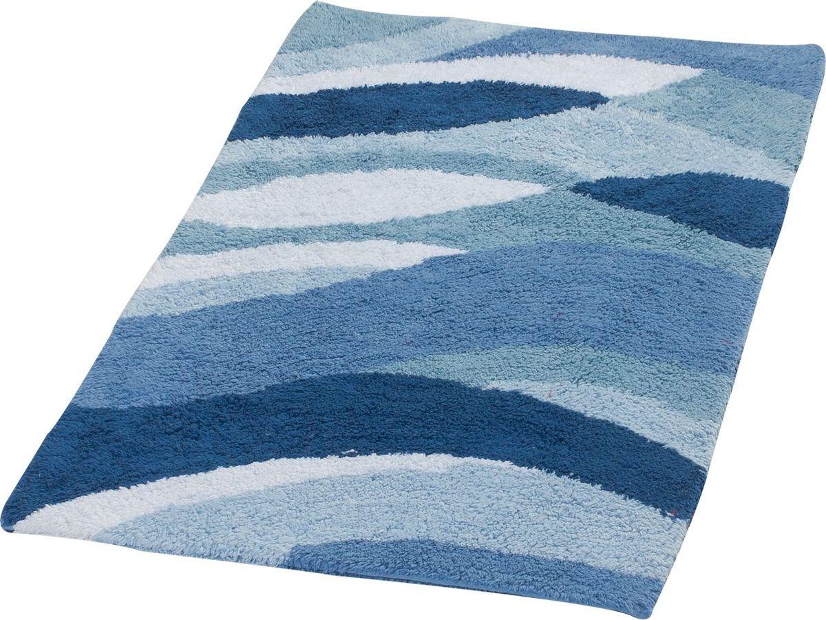 Коврик для ванной Ridder Dune, двухсторонний, цвет: синий, голубой, 70 х 120 см коврик для ванной ridder grand prix цвет белый синий 55 х 85 см
