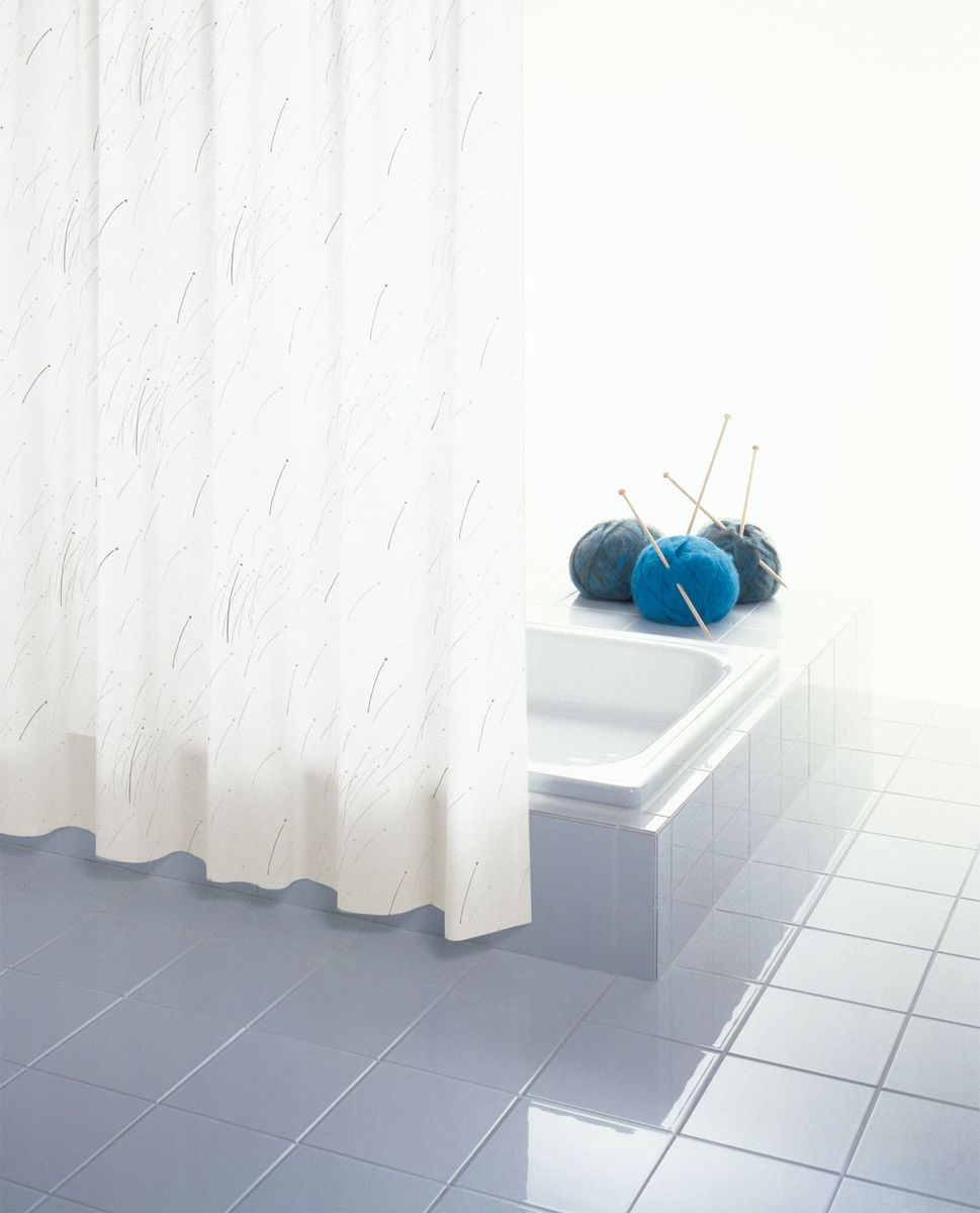 Штора для ванной комнаты Ridder Mikado, цвет: бежевый, коричневый, 180 х 200 см