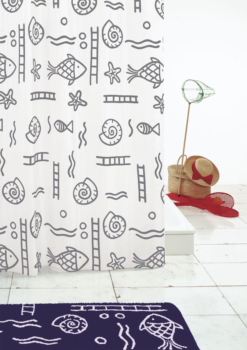 Штора для ванной комнаты Ridder Neptun, цвет: серый, серебряный, 240 х 180 см роутер neptun rsw 2014