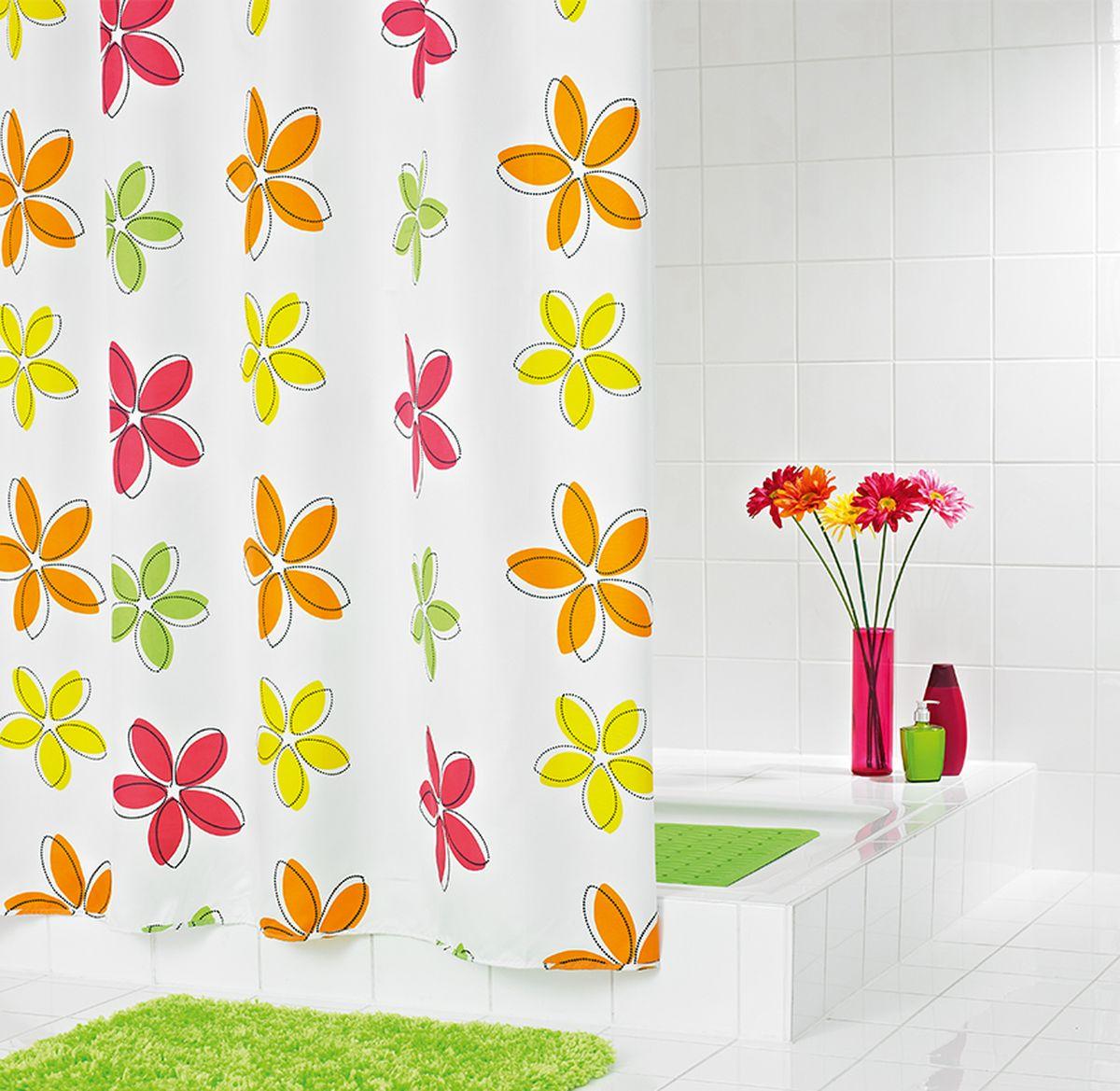 Штора для ванной комнаты Ridder Fleur, 180 х 200 см шторы для ванной ridder штора для ванных комнат fleur оранжевый 180 200