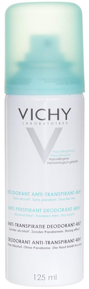 Vichy Дезодорант-аэрозоль, регулирующий избыточное потоотделение 24 часа, 125 мл vichy тональный флюид teint ideal тон 25 30 мл