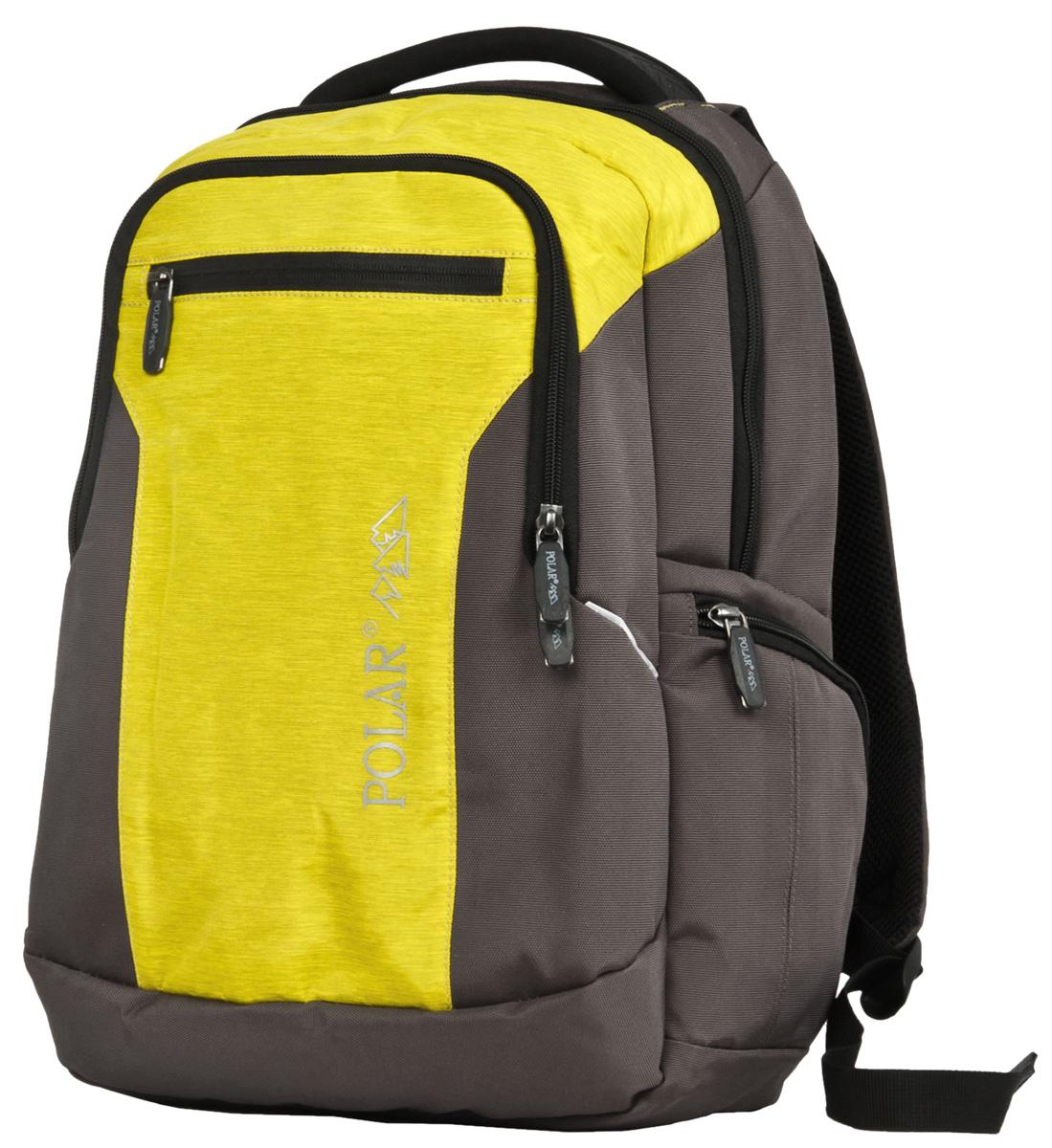 Рюкзак городской Polar  Adventure , цвет: серо-коричневый, желтый, 20 л. д1411 - Сумки и рюкзаки
