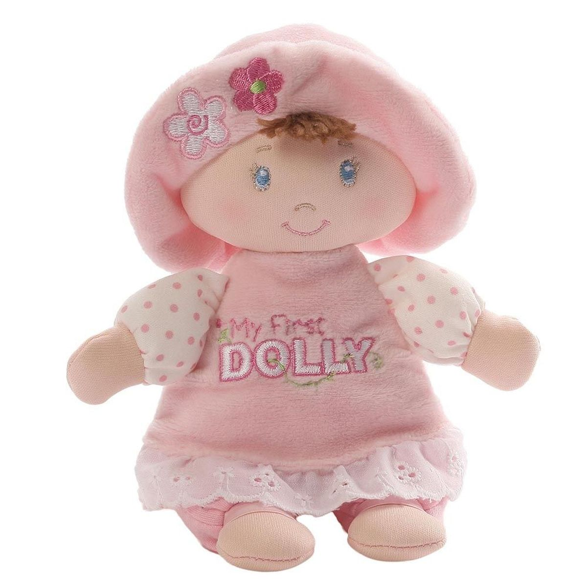 Gund Мягкая игрушка My First Dolly Small Brunette Rattle 18 см мягкая игрушка gund doll berry sweet dolly 10 blonde doll
