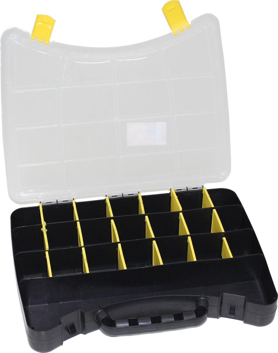 Органайзер Вихрь, 40 х 30 х 6 см80621Органайзер Вихрь имеет: - Удобные накладные замки; - Переставные перегородки, которые позволяют изменять пространство; - До 22 отделений для крепежа и мелких предметов;Изготовлен из пластика.Размер: 40 х 30 х 6 см.