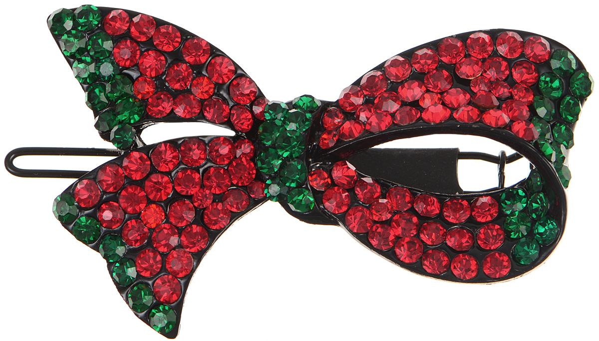 Зажим для волос Fashion House, цвет: красный, зеленый, черный. FH22606CF5512F4Элегантный зажим для волос Fashion House подчеркнет красоту вашей прически. Изделие выполнено из металла и дополнено оригинальным декоративным элементом в виде листка.Такой изысканный аксессуар не только подчеркнет вашу индивидуальность и женственность, но и станет практичным аксессуаром, с помощью которого вы сможете создавать креативные прически разных типов и стилей.