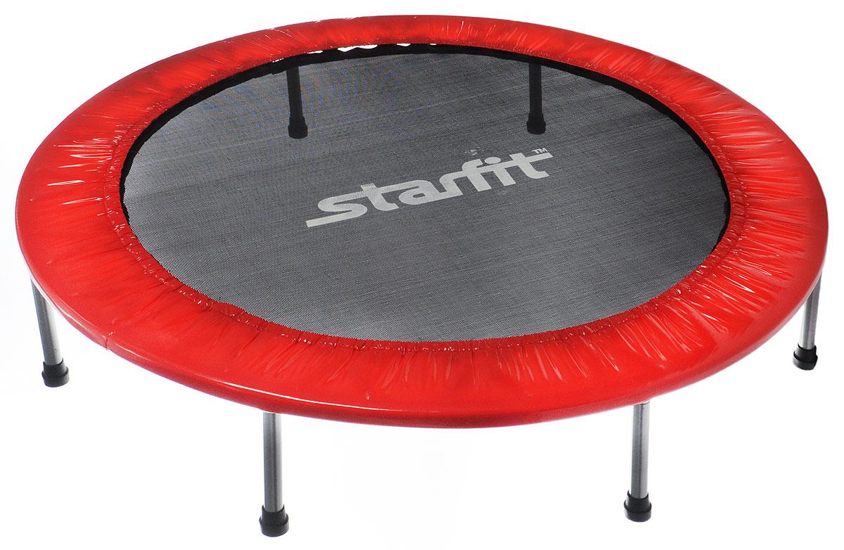 Батут Starfit, цвет: красный, черный, серый, диаметр 114 смУТ-00008874Батут Star Fit предназначен для тренировок детей и взрослых. Его можно использовать как на улице, так и в помещении. На батуте можно прыгать, кувыркаться, играть, проводить спортивные состязания, экстремальные шоу и многое другое.Основная задача батута - физическое развитие, нагрузки, укрепление различных групп мышц, гармоничное развитие всего организма. Для занятий на батуте можно использовать дополнительный инвентарь: гантели, скакалку. Все это поможет разнообразить комплекс упражнений и достичь оптимального результата. А поскольку придется прилагать значительные усилия, чтобы скоординировать движения и сохранить равновесие, будьте уверены, что ни одна мышца тела не останется неохваченной.Защитные колпачки на ножках батута съемные.Занятия на батуте способствуют укреплению не только всех без исключения групп мышц, но и помогают развивать гибкость, а также сжигают немало лишних калорий!Диаметр батута: 114 см.Количество ножек: 6.Высота батута: 24 см.Форма ножек: прямые.