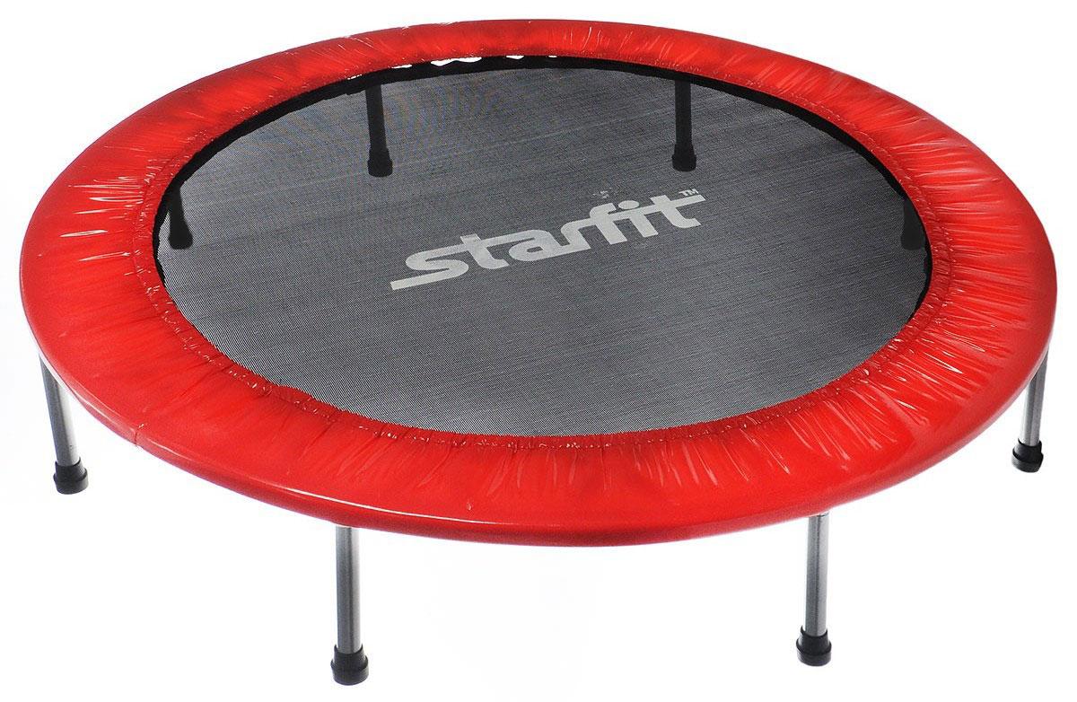 Батут Starfit, цвет: красный, черный, серый, диаметр 127 смone116Батут Star Fit предназначен для тренировок детей и взрослых. Его можно использовать как на улице, так и в помещении. На батуте можно прыгать, кувыркаться, играть, проводить спортивные состязания, экстремальные шоу и многое другое.Основная задача батута - физическое развитие, нагрузки, укрепление различных групп мышц, гармоничное развитие всего организма. Для занятий на батуте можно использовать дополнительный инвентарь: гантели, скакалку. Все это поможет разнообразить комплекс упражнений и достичь оптимального результата. А поскольку придется прилагать значительные усилия, чтобы скоординировать движения и сохранить равновесие, будьте уверены, что ни одна мышца тела не останется неохваченной.Защитные колпачки на ножках батута съемные.Занятия на батуте способствуют укреплению не только всех без исключения групп мышц, но и помогают развивать гибкость, а также сжигают немало лишних калорий!Диаметр батута: 127 см.Количество ножек: 8.Высота батута: 25 см.Форма ножек: прямые.