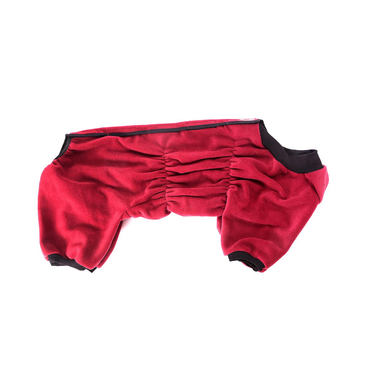 Комбинезон для собак OSSO Fashion, для девочки, цвет: бордовый. Размер 25К-1038-черный_желтыйКомбинезон для собак OSSO Fashion выполнен из флиса. Комфортная посадка по корпусу достигается за счет резинок-утяжек под грудью и животом. На воротнике имеются завязки, для дополнительной фиксации. Можно носить самостоятельно и как поддевку под комбинезон для собак. Изделие отлично стирается, быстро сохнет.Длина спинки: 25 см.Объем груди: 30-38 см.