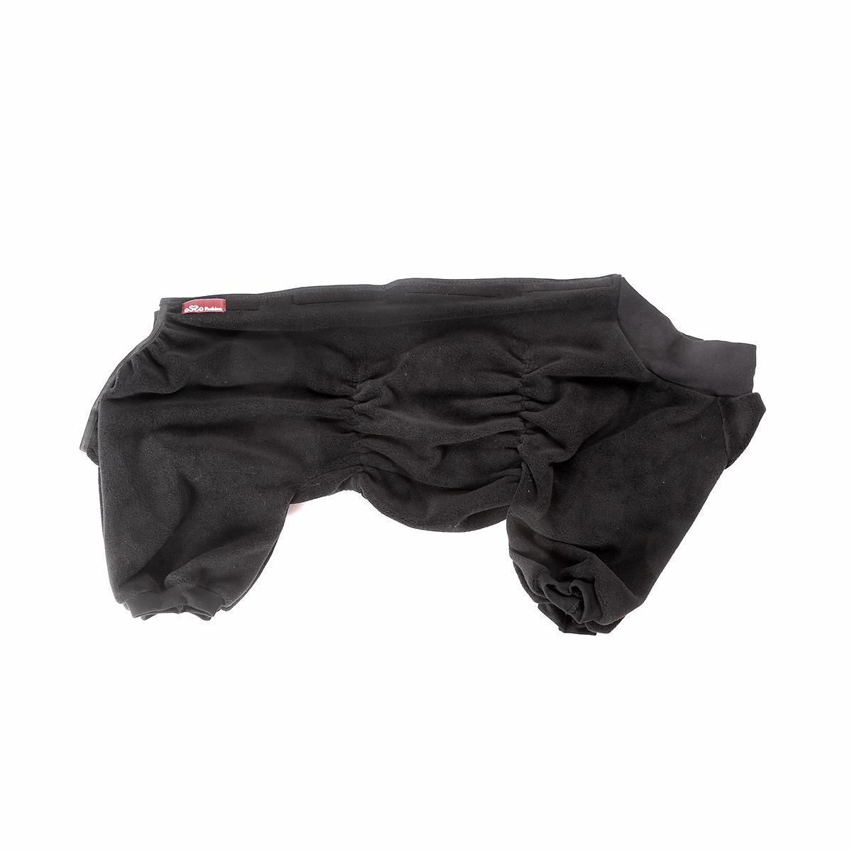 Комбинезон для собак OSSO Fashion, для мальчика, цвет: графит. Размер 300120710Комбинезон для собак OSSO Fashion выполнен из флиса. Комфортная посадка по корпусу достигается за счет резинок-утяжек под грудью и животом. На воротнике имеются завязки, для дополнительной фиксации. Можно носить самостоятельно и как поддевку под комбинезон для собак. Изделие отлично стирается, быстро сохнет.Длина спинки: 30 см.Объем груди: 34-44 см.