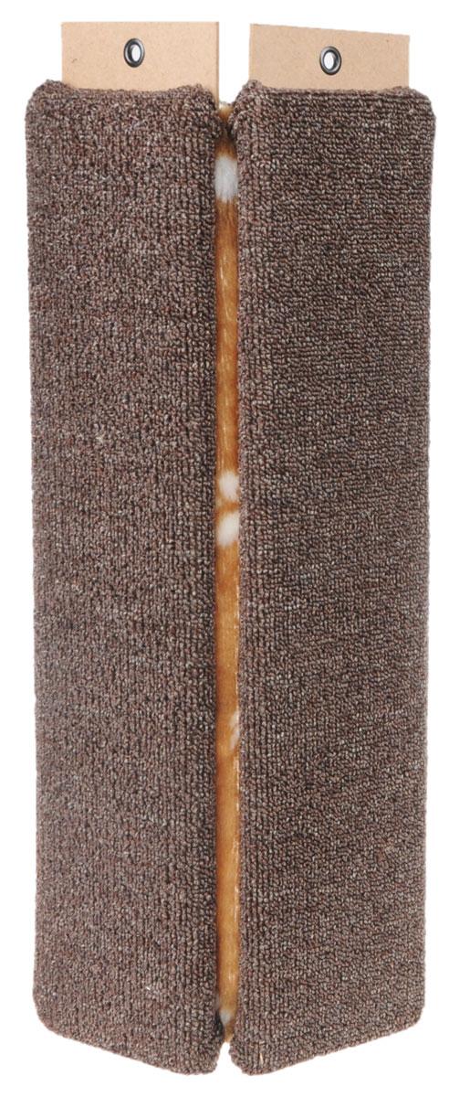 Когтеточка Меридиан, настенная, угловая, цвет: коричневый, бежевый, белый, длина 55 смК023_коричневый, леопардУгловая когтеточка Меридиан предназначена для стачивания когтей вашей кошки и предотвращения их врастания. Волокна ковролина обеспечивают естественный уход за когтями питомца. Когтеточка позволяет сохранить неповрежденными мебель и другие предметы интерьера. Изделие крепится на смежных поверхностях стен и пола.Длина когтеточки: 55 см.Длина рабочей части: 52 см.Ширина: 11,5 см.