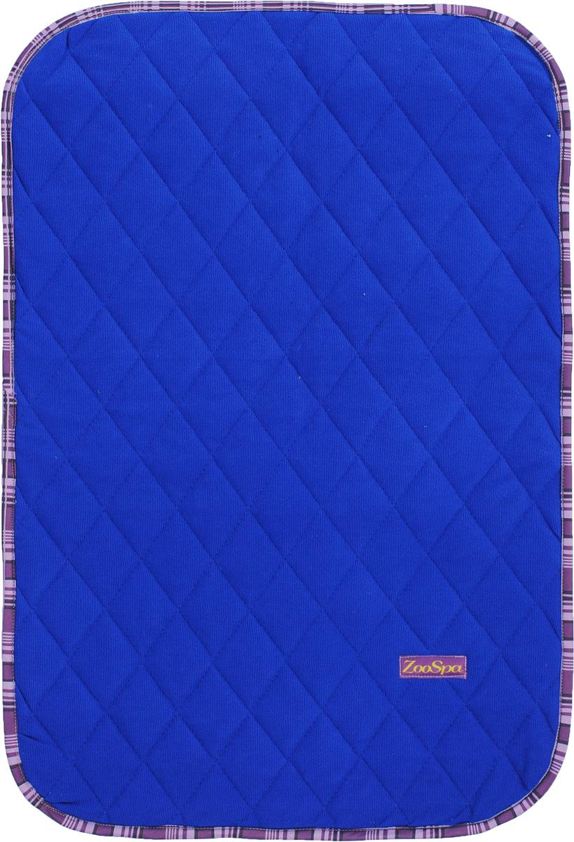 Пеленка впитывающая для животных ZooSpa, многоразовая, 5-ти слойная, цвет: синий, 40 х 60 см. ZS-1500050120710Пеленка ZooSpa используется как комфортная впитывающая подстилка в туалетных лотках, в переносках, в автомобиле или дома. Быстро поглощает жидкость в значительных объемах. Изделие выполнено из ткани 100 % микрофибры. Пеленка состоит из пяти слоев, которые обеспечивают абсолютную защиту от протекания, быстро высыхает и не скользит. Лапки вашего питомца всегда будут сухие. Многоразовую пеленку можно стирать до 300 раз без потери функциональных свойств. Такая пеленка не загрязняет окружающую среду и экономит ваши деньги. Не содержит наполнителей, не выделяет опасных химических веществ, очень прочная ткань, которую сложно прогрызть или разорвать.