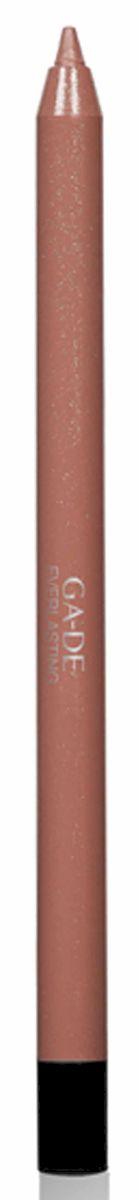 GA-DE Карандаш для губ Everlasting, тон № 82, 0,5 гSatin Hair 7 BR730MNПлотная силиконовая текстура. Матовые и глянцевые оттенки. Устойчивая формула. Аргановое масло защищает кожу губ и обеспечивает мягкое и комфортное нанесение. Силиконовый карандаш корректирует контур губ. Он проводит чуть матовую линию, заполняет собой морщинки и не дает помаде или блеску растекаться. Хорошо подходят для использования летом и во время отпуска, так как не будет растекаться под воздействием солнца и жары.