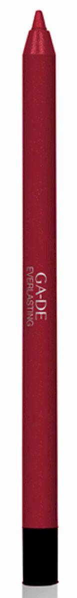 GA-DE Карандаш для губ Everlasting, тон № 92, 0,5 гLM01010000Плотная силиконовая текстура. Матовые и глянцевые оттенки. Устойчивая формула. Аргановое масло защищает кожу губ и обеспечивает мягкое и комфортное нанесение. Силиконовый карандаш корректирует контур губ. Он проводит чуть матовую линию, заполняет собой морщинки и не дает помаде или блеску растекаться. Хорошо подходят для использования летом и во время отпуска, так как не будет растекаться под воздействием солнца и жары.