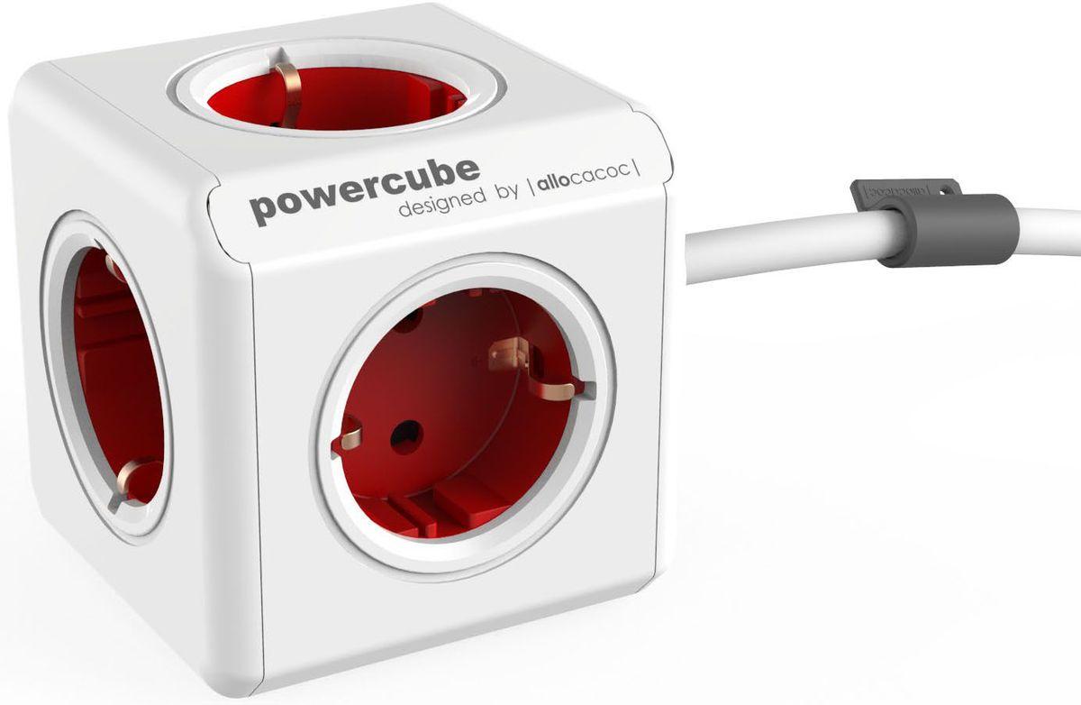 Allocacoc PowerCube Extended, Red сетевой разветвитель