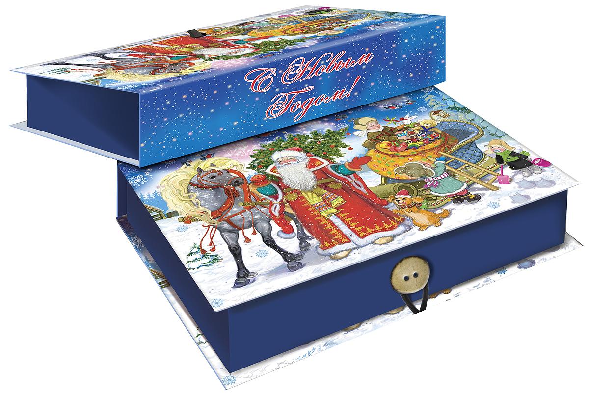 Коробка подарочная Magic Time Дед Мороз с елкой, 20 х 14 х 6 см. 3926209840-20.000.00Подарочная коробка Magic Time Дед Мороз с елкой, выполненная из мелованного, ламинированного картона, закрывается на пуговицу. Крышка оформлена декоративным рисунком.Подарочная коробка - это наилучшее решение, если вы хотите порадовать ваших близких и создать праздничное настроение, ведь подарок, преподнесенный в оригинальной упаковке, всегда будет самым эффектным и запоминающимся. Окружите близких людей вниманием и заботой, вручив презент в нарядном, праздничном оформлении.Плотность картона: 1100 г/м2.