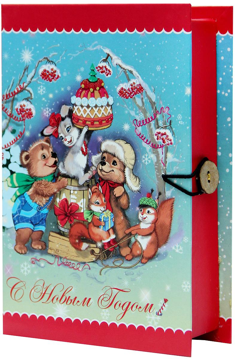 Коробка подарочная Magic Time Лесные зверюшки, 20 х 14 х 6 см. 3926497775318Подарочная коробка Magic Time Лесные зверюшки, выполненная из мелованного, ламинированного картона, закрывается на пуговицу. Крышка оформлена декоративным рисунком.Подарочная коробка - это наилучшее решение, если вы хотите порадовать ваших близких и создать праздничное настроение, ведь подарок, преподнесенный в оригинальной упаковке, всегда будет самым эффектным и запоминающимся. Окружите близких людей вниманием и заботой, вручив презент в нарядном, праздничном оформлении.Плотность картона: 1100 г/м2.