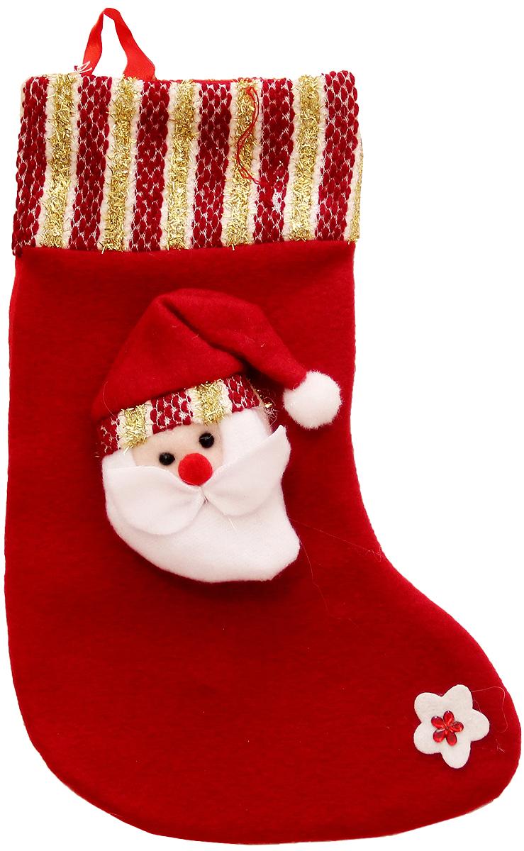Мешок для подарков Феникс-Презент Носок. Дед Мороз, 27 x 16 см. 42517264012Мешок для подарков Феникс-Презент Носок. Дед Мороз выполнен из полиэстера в виде носка с изображением Деда Мороза. В мешочек можно спрятать подарки. С помощью специальной петельки украшение можно повесить в любом понравившемся вам месте.