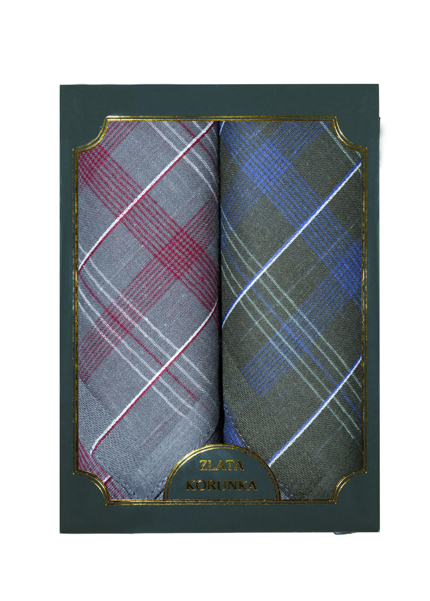 Платок носовой мужской Zlata Korunka, цвет: серый, темно-зеленый, 2 шт. 40214-5. Размер 38 см х 38 смСерьги с подвескамиОригинальный мужской носовой платок Zlata Korunka изготовлен из высококачественного натурального хлопка, благодаря чему приятен в использовании, хорошо стирается, не садится и отлично впитывает влагу. Практичный и изящный носовой платок будет незаменим в повседневной жизни любого современного человека. Такой платок послужит стильным аксессуаром и подчеркнет ваше превосходное чувство вкуса.В комплекте 2 платка.