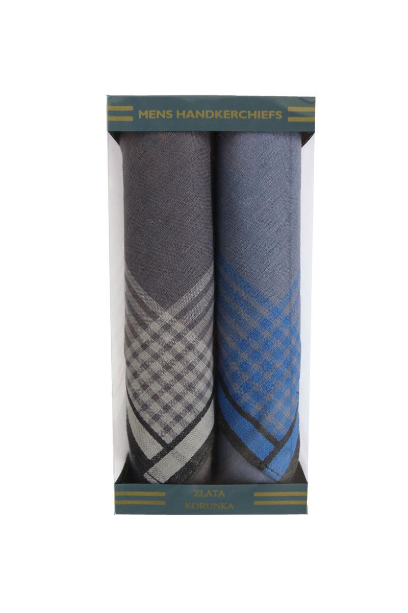 Платок носовой мужской Zlata Korunka, цвет: серый, бежевый, голубой. 40215-4. Размер 40 х 40 см, 2 штСерьги с подвескамиНосовой платок Zlata Korunka изготовлен из высококачественного натурального хлопка, благодаря чему приятен в использовании, хорошо стирается, не садится и отлично впитывает влагу. Практичный носовой платок будет незаменим в повседневной жизни любого современного человека. Такой платок послужит стильным аксессуаром и подчеркнет ваше превосходное чувство вкуса. В комплекте 2 платка.