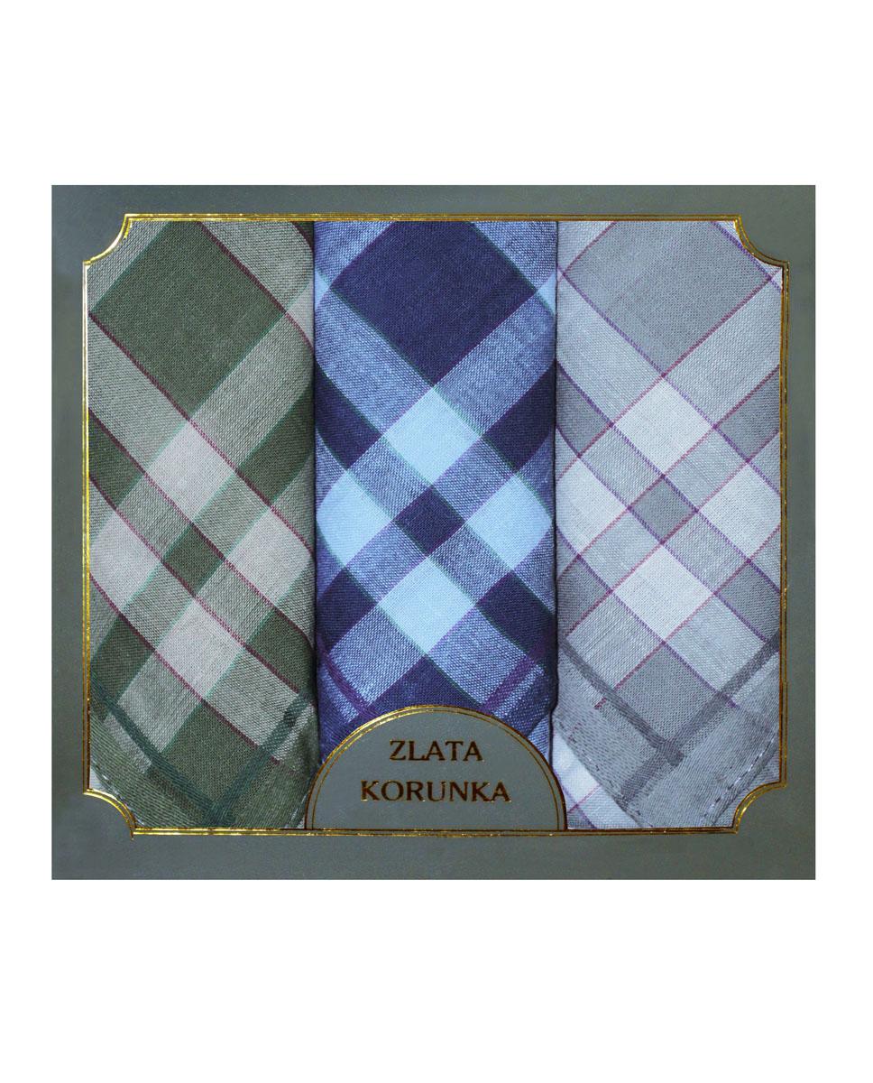 Платок носовой мужской Zlata Korunka, цвет: зеленый, синий, серый. 40313-2. Размер 38 х 38 см, 3 штСерьги с подвескамиНосовой платок Zlata Korunka изготовлен из высококачественного натурального хлопка, благодаря чему приятен в использовании, хорошо стирается, не садится и отлично впитывает влагу. Практичный носовой платок будет незаменим в повседневной жизни любого современного человека. Такой платок послужит стильным аксессуаром и подчеркнет ваше превосходное чувство вкуса. В комплекте 3 платка.