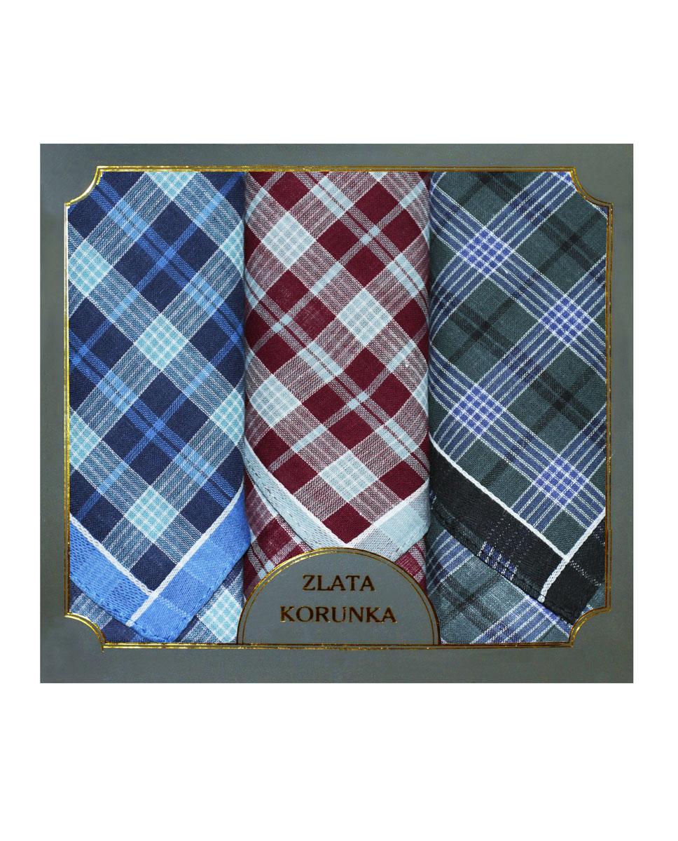 Платок носовой мужской Zlata Korunka, цвет: бордовый, синий, серый. 40313-3. Размер 38 х 38 см, 3 штАжурная брошьНосовой платок Zlata Korunka изготовлен из высококачественного натурального хлопка, благодаря чему приятен в использовании, хорошо стирается, не садится и отлично впитывает влагу. Практичный носовой платок будет незаменим в повседневной жизни любого современного человека. Такой платок послужит стильным аксессуаром и подчеркнет ваше превосходное чувство вкуса. В комплекте 3 платка.