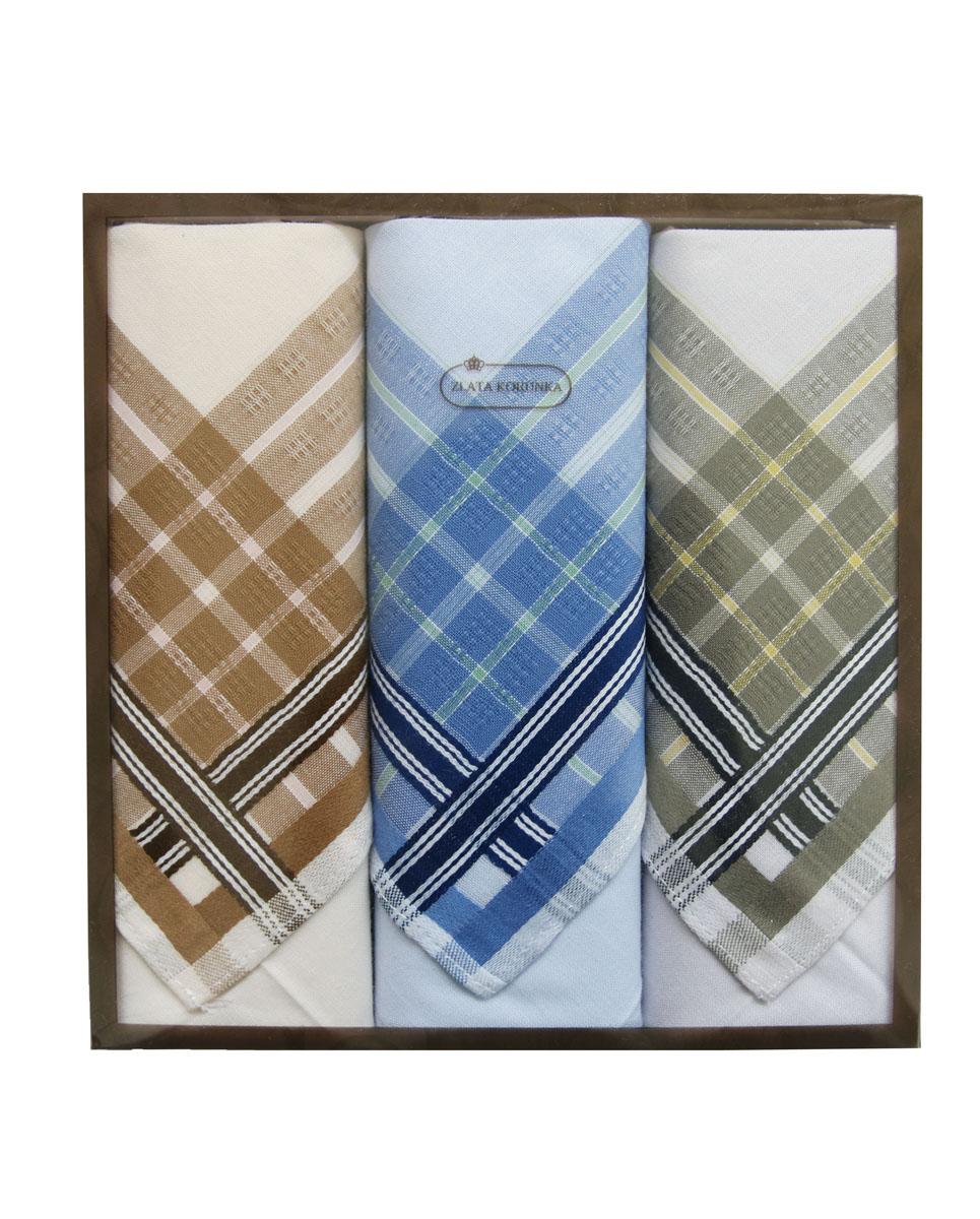 Платок носовой мужской Zlata Korunka, цвет: коричневый, синий, серо-зеленый, 3 шт. 40314-3. Размер 38 см х 38 см39864|Серьги с подвескамиОригинальный мужской носовой платок Zlata Korunka изготовлен из высококачественного натурального хлопка, благодаря чему приятен в использовании, хорошо стирается, не садится и отлично впитывает влагу. Практичный и изящный носовой платок будет незаменим в повседневной жизни любого современного человека. Такой платок послужит стильным аксессуаром и подчеркнет ваше превосходное чувство вкуса.В комплекте 3 платка.