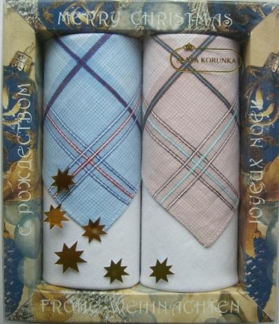 Платок носовой мужской Zlata Korunka, цвет: белый, голубой, светло-коричневый. 67002. Размер 27 х 27 см, 2 шт39864 Серьги с подвескамиПлатки носовые мужские в упаковке по 2 шт. Носовые платки изготовлены из 100% хлопка, так как этот материал приятен в использовании, хорошо стирается, не садится, отлично впитывает влагу.