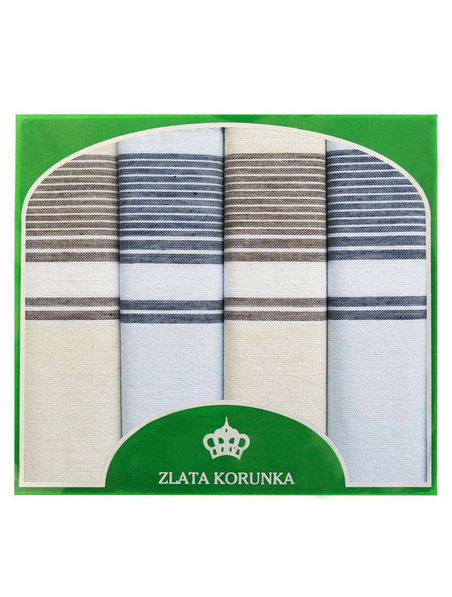 Платок носовой мужской Zlata Korunka, цвет: бежевый, голубой. 71419-12. Размер 34 х 34 см, 4 шт39864|Серьги с подвескамиНосовой платок Zlata Korunka изготовлен из высококачественного натурального хлопка, благодаря чему приятен в использовании, хорошо стирается, не садится и отлично впитывает влагу. Практичный носовой платок будет незаменим в повседневной жизни любого современного человека. Такой платок послужит стильным аксессуаром и подчеркнет ваше превосходное чувство вкуса. В комплекте 4 платка.