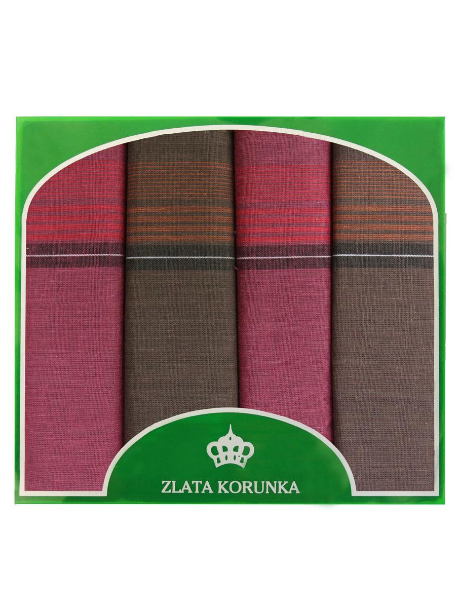 Платок носовой мужской Zlata Korunka, цвет: бордовый, коричневый. 71419-19. Размер 34 х 34 см, 4 шт39864|Серьги с подвескамиНосовой платок Zlata Korunka изготовлен из высококачественного натурального хлопка, благодаря чему приятен в использовании, хорошо стирается, не садится и отлично впитывает влагу. Практичный носовой платок будет незаменим в повседневной жизни любого современного человека. Такой платок послужит стильным аксессуаром и подчеркнет ваше превосходное чувство вкуса. В комплекте 4 платка.