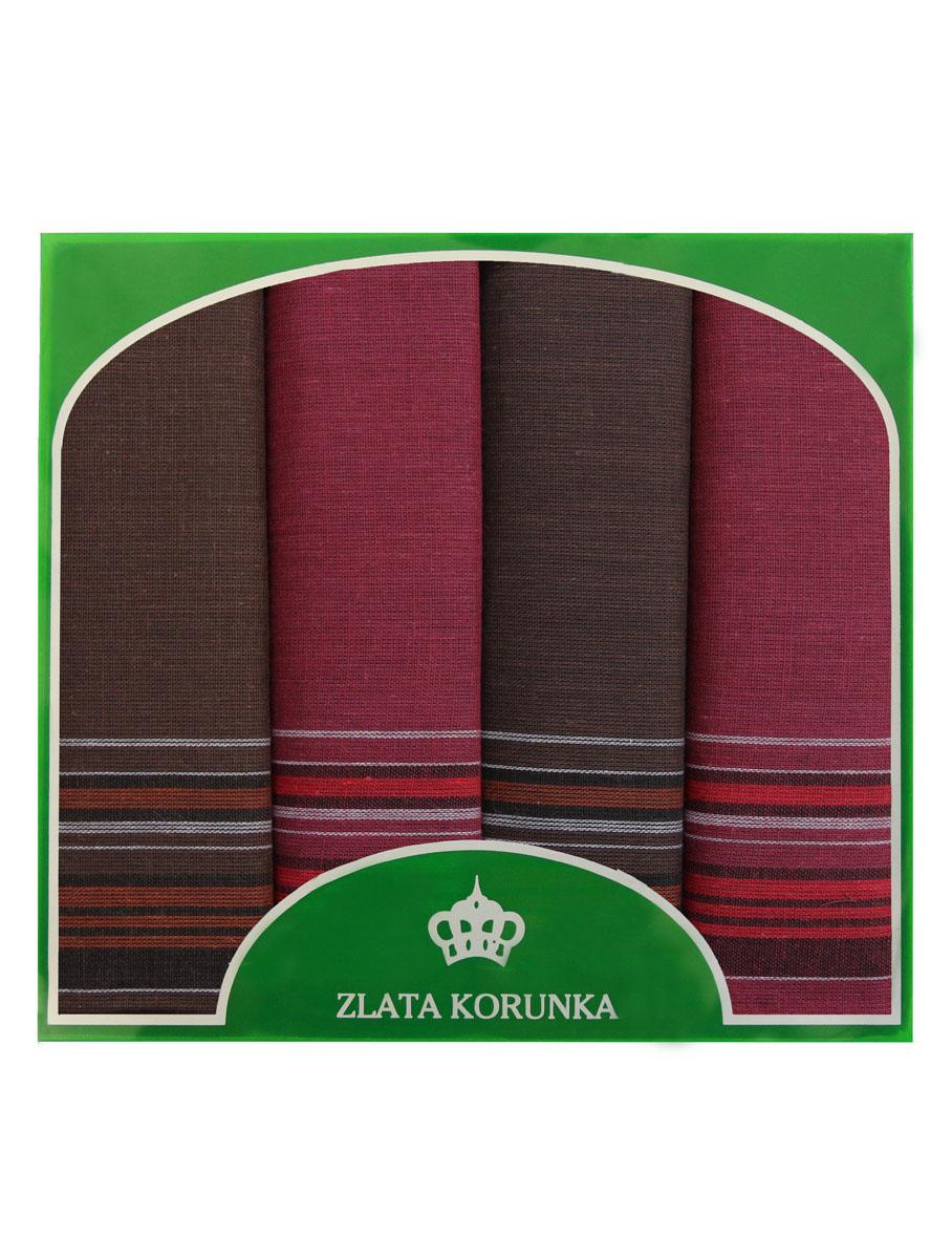 Платок носовой мужской Zlata Korunka, цвет: бордовый, темно-коричневый. 71419-2. Размер 34 х 34 см, 4 шт39864|Серьги с подвескамиНосовой платок Zlata Korunka изготовлен из высококачественного натурального хлопка, благодаря чему приятен в использовании, хорошо стирается, не садится и отлично впитывает влагу. Практичный носовой платок будет незаменим в повседневной жизни любого современного человека. Такой платок послужит стильным аксессуаром и подчеркнет ваше превосходное чувство вкуса. В комплекте 4 платка.