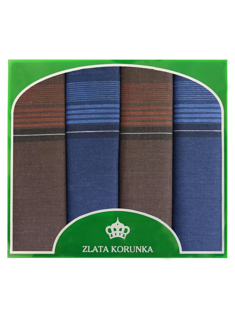 Платок носовой мужской Zlata Korunka, цвет: синий, красный. 71419-20. Размер 34 х 34 см, 4 шт39864|Серьги с подвескамиНосовой платок Zlata Korunka изготовлен из высококачественного натурального хлопка, благодаря чему приятен в использовании, хорошо стирается, не садится и отлично впитывает влагу. Практичный носовой платок будет незаменим в повседневной жизни любого современного человека. Такой платок послужит стильным аксессуаром и подчеркнет ваше превосходное чувство вкуса. В комплекте 4 платка.