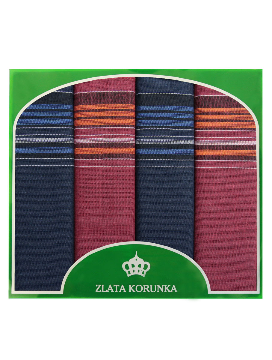 Платок носовой мужской Zlata Korunka, цвет: бордовый, темно-синий, 4 шт. 71419-26. Размер 34 см х 34 смБрошь-кулонОригинальный мужской носовой платок Zlata Korunka изготовлен из высококачественного натурального хлопка, благодаря чему приятен в использовании, хорошо стирается, не садится и отлично впитывает влагу. Практичный и изящный носовой платок будет незаменим в повседневной жизни любого современного человека. Такой платок послужит стильным аксессуаром и подчеркнет ваше превосходное чувство вкуса.В комплекте 4 платка.