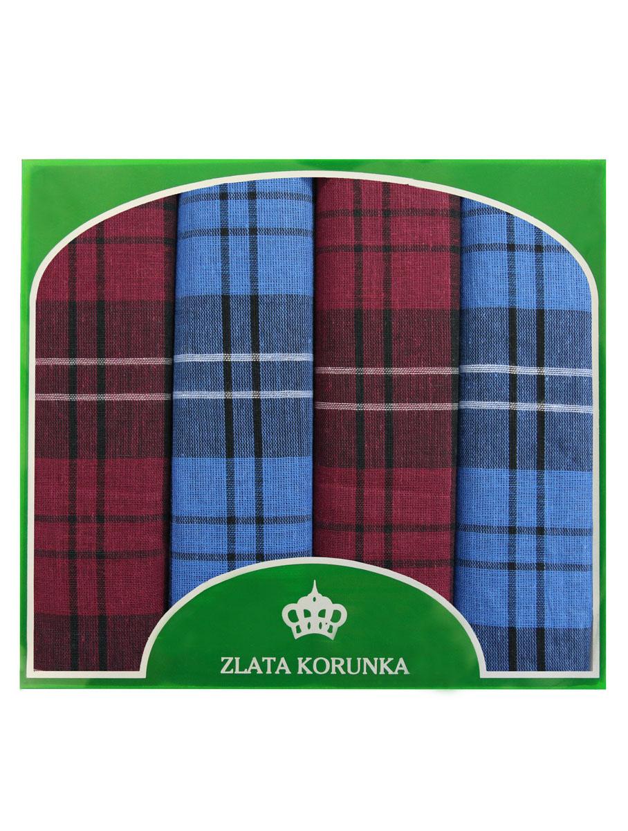 Платок носовой мужской Zlata Korunka, цвет: бордовый, синий, 4 шт. 71419-29. Размер 34 см х 34 см39864|Серьги с подвескамиОригинальный мужской носовой платок Zlata Korunka изготовлен из высококачественного натурального хлопка, благодаря чему приятен в использовании, хорошо стирается, не садится и отлично впитывает влагу. Практичный и изящный носовой платок будет незаменим в повседневной жизни любого современного человека. Такой платок послужит стильным аксессуаром и подчеркнет ваше превосходное чувство вкуса.В комплекте 4 платка.