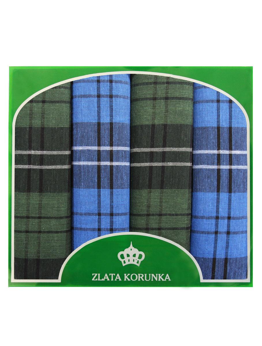 Платок носовой мужской Zlata Korunka, цвет: зеленый, голубой. 71419-30. Размер 34 х 34 см, 4 штСерьги с подвескамиНосовой платок Zlata Korunka изготовлен из высококачественного натурального хлопка, благодаря чему приятен в использовании, хорошо стирается, не садится и отлично впитывает влагу. Практичный носовой платок будет незаменим в повседневной жизни любого современного человека. Такой платок послужит стильным аксессуаром и подчеркнет ваше превосходное чувство вкуса. В комплекте 4 платка.