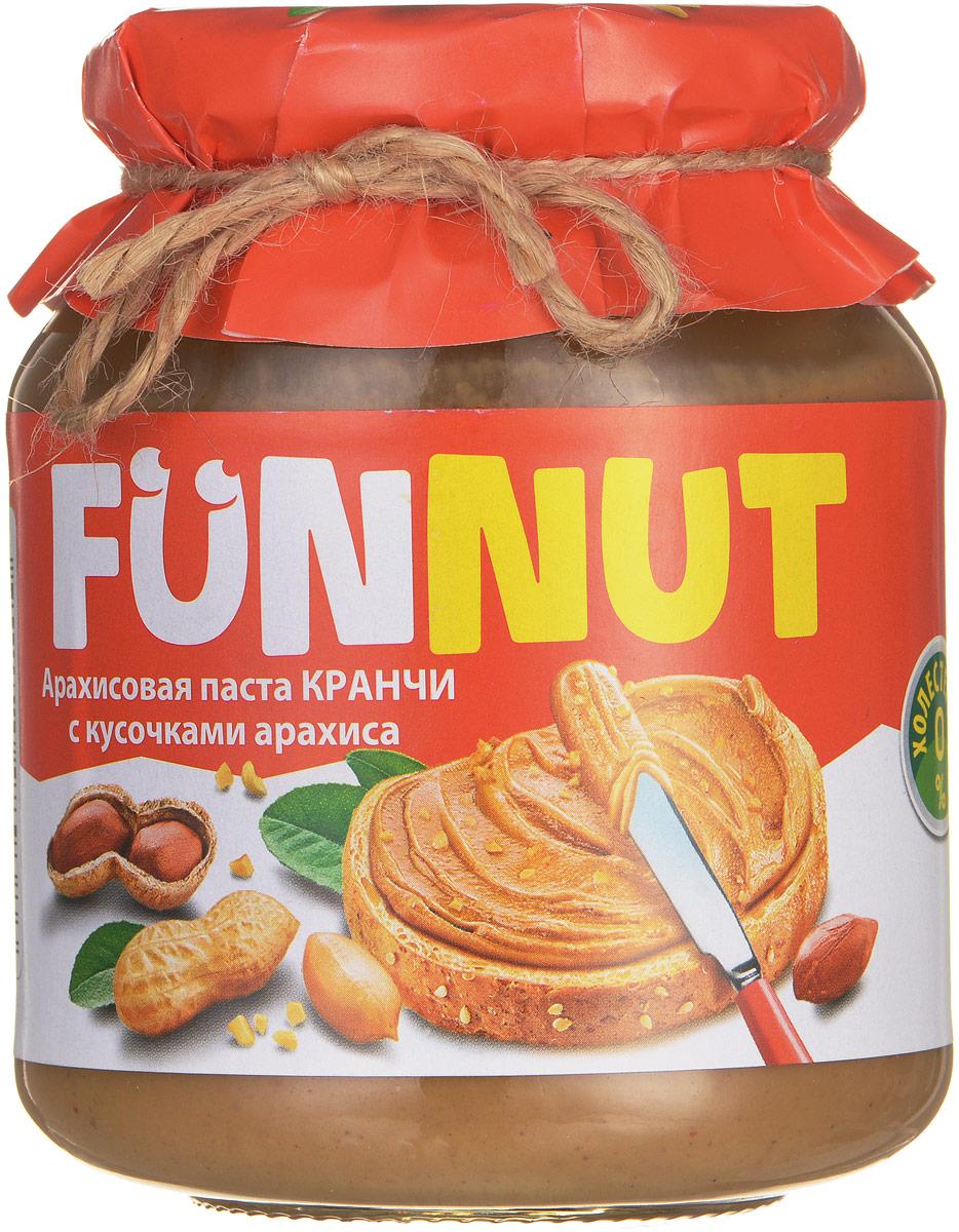 Funnut арахисовая паста Кранчи, 340 г0120710Арахисовая паста Funnut подходит тем, кто следит за своим здоровьем. Паста производится по уникальной рецептуре. Секрет ее вкуса заключается в натуральности всех ингредиентов, отсутствием в составе холестерина, транс-жиров и вредных насыщенных жиров. Вся продукция прошла лабораторные и бактериологические исследования.