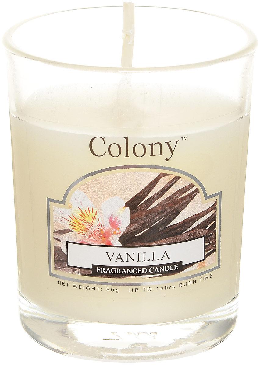 Свеча ароматическая Wax Lyrical Colony. ВанильRG-D31SСвеча ароматическая Wax Lyrical Colony. Ваниль создаст в доме атмосферу тепла и уюта. Наливная свеча в стеклянном стакане красиво смотрится в интерьере, она безопасна и удобна в использовании. Кроме того, ее можно помещать в специальные светильники. Свеча создаст приятное мерцание, а сладкий манящий аромат ванили, миндаля и сливочной помадки окутает вас и подарит приятные ощущения. Свеча горит до 14 часов.