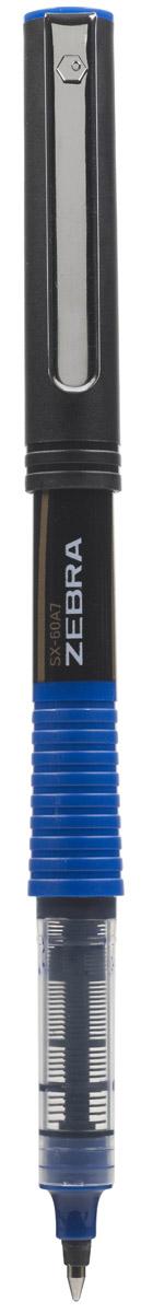 Zebra SX-60A5 - это удобная функциональная ручка-роллер современного дизайна. Корпус ручки выполнен из темного пластика. Рифленая вставка в цвет чернил в середине корпуса не только является удачным элементом декора, но и создает дополнительный комфорт при письме. Прочный стальной зажим обтекаемой формы точно вписывается в дизайн модели и придает законченность образу идеального пишущего инструмента. Стреловидный пишущий наконечник пишет ровно и аккуратно до последней капли чернил.