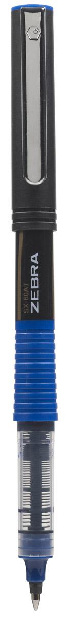 Zebra Ручка-роллер SX-60A7 цвет чернил синийPBK401-B_красныйZebra SX-60A7 – это удобная функциональная ручка-роллер современного дизайна. Корпус ручки выполнен из темного пластика. Рифленая вставка в цвет чернил в середине корпуса не только является удачным элементом декора, но и создает дополнительный комфорт при письме. Прочный стальной зажим обтекаемой формы точно вписывается в дизайн модели и придает законченность образу идеального пишущего инструмента. Стреловидный пишущий наконечник пишет ровно и аккуратно до последней капли чернил.