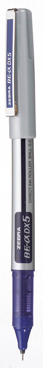Zebra Ручка-роллер BE-& DX5 цвет чернил синий167162Ручка-роллер Zebra BE-& DX5, как и другие роллеры серии Zeb-Roller, может писать вверх ногами. Снабжена наконечником иглообразного типа из нержавеющей стали и стальным зажимом.Серию ручек-роллеров Zeb-Roller отличает разработанная компанией Zebra система прямой подачи чернил (Direct Ink System), позволяющая писать очень быстро и практически без нажима. Идеальная линия письма до последней капли чернил, запас которых виден в полупрозрачном окошке пластикового корпуса. Необычайно большой запас чернил усовершенствованной формулы эквивалентен нескольким сменным стержням стандартной шариковой ручки.