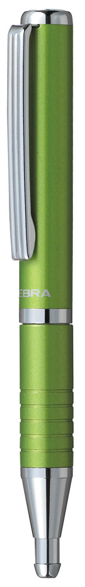 Zebra Ручка шариковая Slide синяя цвет корпуса салатовый72523WDШариковая ручка Zebra Slide - незаменимый предмет на любом рабочем столе. Такая ручка обеспечит четкий цвет и мягкое письмо.В рабочем состоянии ручка раздвигается, приобретая длину обычной ручки, в закрытом виде очень компактна. Строгий стильный дизайн понравиться всем любителям классики. Модель идеально подходит для записных книжек и органайзеров.