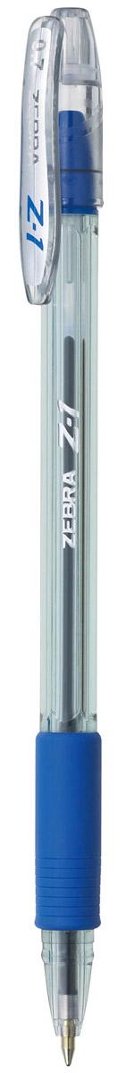 Zebra Ручка шариковая Z-1 цвет корпуса прозрачный синий72523WDВ ручке Zebra Z-1 используются чернила нового четвертого поколения. Эти чернила сочетают в себе все достоинства чернил для шариковых и гелевых ручек: как шариковые экономичны, не растекаются под водой и не выцветают, при этом обеспечивая такое же мягкое и яркое письмо как гелевые.