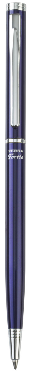 Zebra Ручка шариковая Fortia 500 цвет корпуса синийPP-220Шариковая ручка Zebra Fortia 500 имеет тонкий стильный корпус. Оснащена поворотным механизмом.Поставляется в подарочной картонной упаковке.