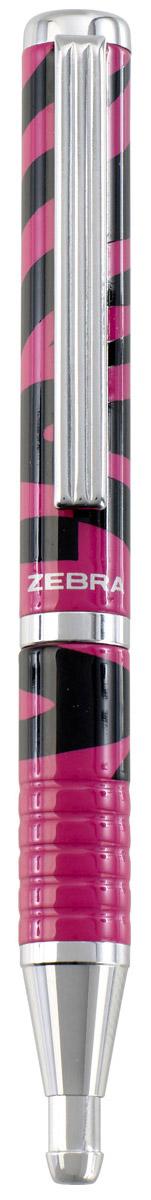 Zebra Ручка шариковая Slide Design цвет корпуса фуксия черный305 229310Стильный дизайн шариковой ручки Zebra Slide Design, имитирующий расцветку зебры, бесспорно придется по вкусу любителям оригинальных, эксклюзивных вещей.В рабочем состоянии ручка раздвигается, приобретая длину обычной ручки, в закрытом виде очень компактна.Модель идеально подходит для записных книжек и органайзеров.