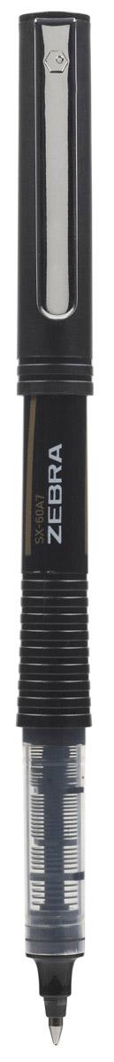 Zebra Ручка-роллер SX-60A5 цвет чернил черный990244Zebra SX-60A5 - это удобная функциональная ручка-роллер современного дизайна. Корпус ручки выполнен из темного пластика. Рифленая вставка в цвет чернил в середине корпуса не только является удачным элементом декора, но и создает дополнительный комфорт при письме. Прочный стальной зажим обтекаемой формы точно вписывается в дизайн модели и придает законченность образу идеального пишущего инструмента. Стреловидный пишущий наконечник пишет ровно и аккуратно до последней капли чернил.