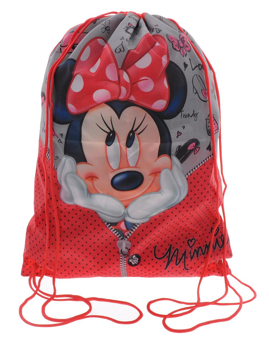 Disney Мешок для сменной обуви Минни72523WDМешок для сменной обуви Disney Минни идеально подойдет как для хранения, так и для переноски сменной обуви и одежды.Мешок изготовлен из полиэстера и содержит одно вместительное отделение, затягивающееся с помощью текстильных шнурков. Плотная ткань надежно защитит сменную обувь и одежду школьника от непогоды, а удобные шнурки позволят носить мешок, как в руках, так и за спиной.Ваш ребенок с радостью будет ходить с таким аксессуаром в школу!