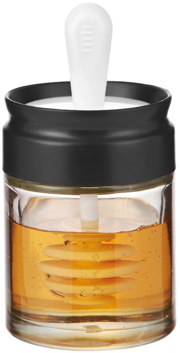 Банка для меда и сиропа SinoGlass, с ложкой, 110 мл115510Банка для меда и сиропа SinoGlass выполнена из прочного стекла и снабжена специальной крышкой, которая плотно устанавливается благодаря силиконовой прослойке. Крышка имеет специальную ложку-веретено, которая очень удобна для порциона меда или сиропа. Благодаря уникальной форме мед не растекается, и ваш стол всегда будет чистым. Такая банка станет практичным приобретением для кухни, а благодаря качеству исполнения прослужит вам долгие годы. Диаметр банки: 6 см. Высота банки: 8 см.