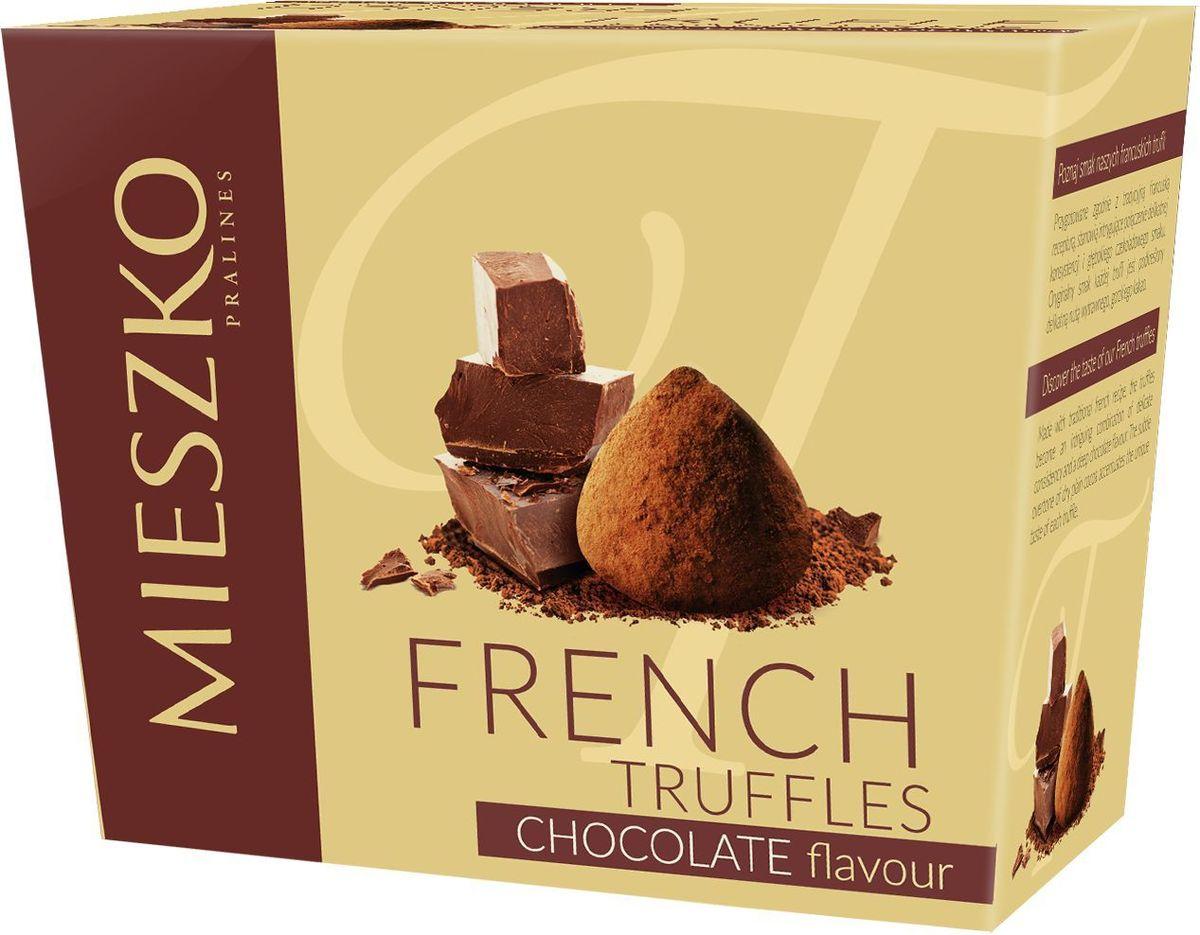 Mieszko Трюфель Французский со вкусом шоколада набор шоколадных конфет, 175 г0120710Французские трюфели Mieszko являются идеальным выбором при поиске чрезвычайно привлекательного и небольшого подарка. Это сложное кондитерское изделие имеет удивительно уникальный шоколадный аромат и мягкий вкус. Своим уникальным характером французские трюфели обязаны своим горьким нотам натурального какао, вкус которого оставит человека в отличном настроении.