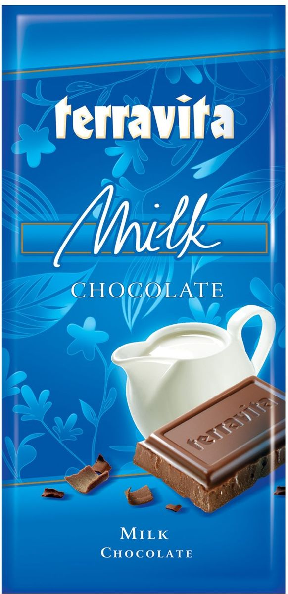 Terravita Шоколад молочный, 100 г79015013Идеальный баланс ингредиентов в молочном шоколаде Terravita делает его таким сливочно-вкусным, нежным и ароматным, что полностью оправдывает название. Отличное качество шоколада подарит вам незабываемые ощущение вкуса и аромата. Шоколад - исключительно вкусный способ получить заряд энергии. Только один кусочек обеспечивает массу энергии и повышает настроение. Он также утолит голод и послужит хорошим поводом для чаепития с вашими близкими.