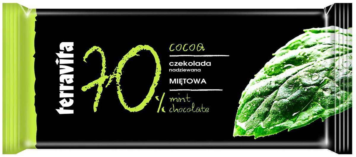 Terravita Шоколад темный с мятой, 100 г0120710Восхитительный темный шоколад с нежной мятной начинкой Terravita.Подарит наслаждение любителям шоколада. Послужит отличным десертом к кофе или чаю.
