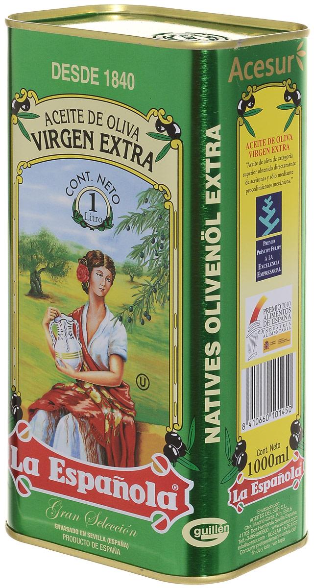 La Espanola Extra Virgin масло оливковое, 1 л0601813032450007Оливковое масло La Espanola Extra Virgin производится в Испании группой компаний Aceites del Sur, которая производит оливковое масло с 1840 года, что сделало ее экспертом в этой области. Использование традиционных методов производства оливкового масла и строгий контроль качества на каждом этапе производственной цепочки позволяет снабжать рынок продукцией самого высокого качества.Acesur Group – производитель La Espanola – занимает второе место на Испанском рынке масла.